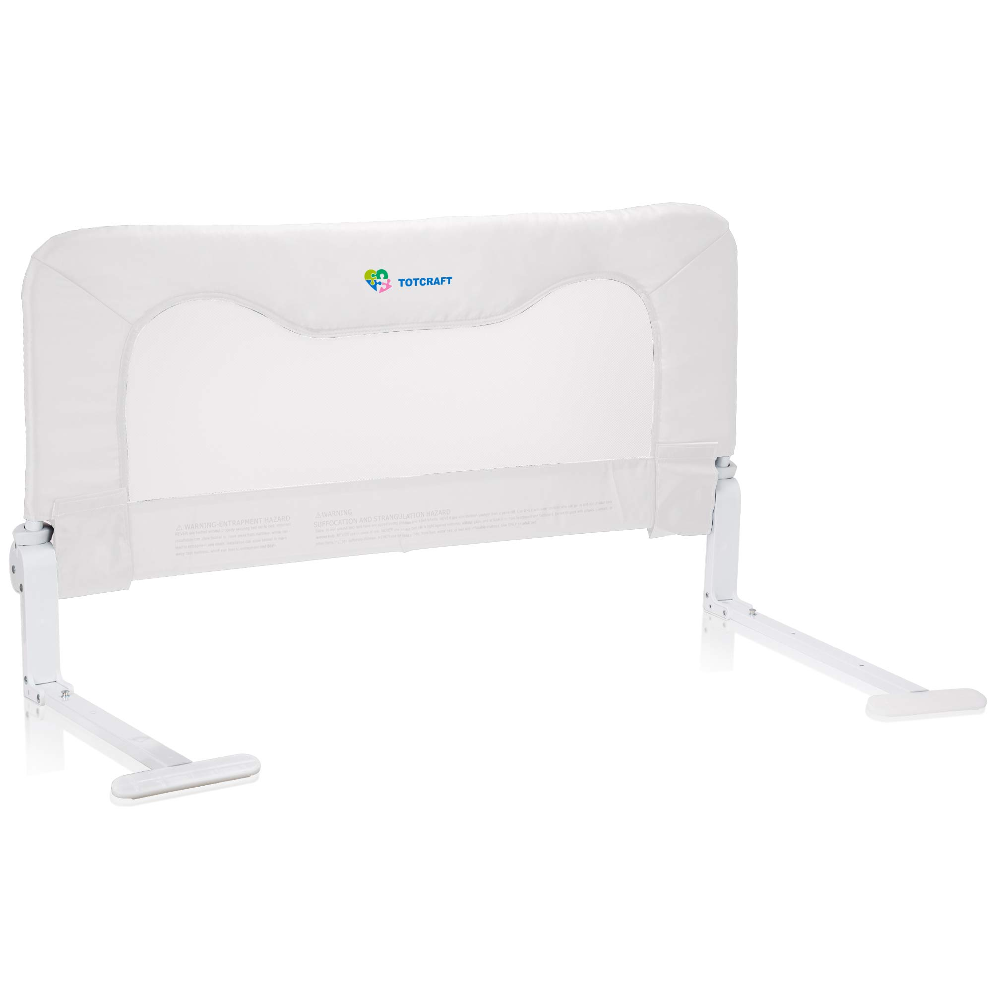Toddler Bed Rail Guard for Kids– Bed Safety Rail Guard for,Toddlers,Infants –Bed Rails for Toddlers for Queen & King Bed,Twin Bed,Twin Mattress,Twins Bed,Queen King Mattress-White (35.5L19.5H in)