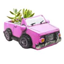 Ascrafter Cute Car Succulent Plants Flower Pot (Rose Red Truck)