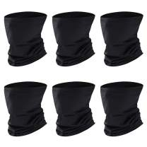 Bandana Balaclava Face Mask Neck Gaiter Windproof Scarf Outdoor&Sport, 6 Pieces