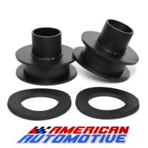 """American Automotive F250 F350 Super Duty 2"""" Front Leveling Lift Kit 4WD 'Road Fury' Carbon Steel Coil Spring Spacers"""