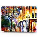 "HRH Bright Street Painting Pattern Design Laptop Body Shell Protective PC Hard Case for MacBook Old Pro 13"" Inch with CD-ROM Drive (A1278),Release Early 2012/2011/2010/2009/2008"