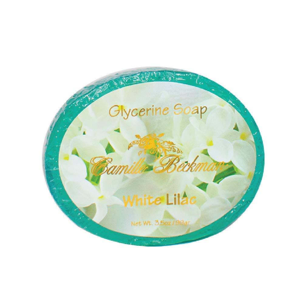 Camille Beckman Glycerine Bar Soap, White Lilac, 3.5 oz
