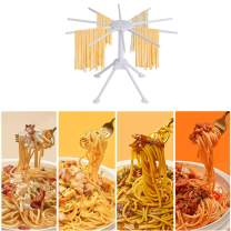 Fresh Homemade Pasta Rack, Collapsible Drying Holder with Large Space for Spaghetti Linguine Tagliatelle Noodles (White)
