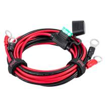 """YCIND 3/8"""" Ring Eyelet Terminal Battery Boost Cable Heavy Duty 30A Fuse 12V/24V 12AWG Cord 6Ft"""