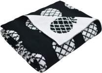 Brandream Pineapple Throw Blankets 100% Cotton 35 X 43 Inch Black and White Kids Throw Blankets Soft Cozy Blankets for Crib Stroller
