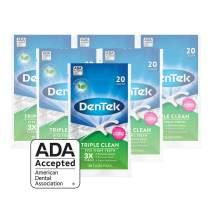 DenTek Triple Clean Floss Picks | No Break Guarantee | 20 Count | 6 Pack