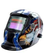 LightweightWeldingHelmet AutoDarkeningWeldingMask Grinding Helmet With Adjustable Shade Range For Tig Mig Arc Cutting Grinding Black Bottom Eagle