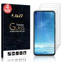 J&D Compatible for Google Pixel 5 Glass Screen Protector (4-Pack), Not Full Coverage, Tempered Glass HD Clear Ballistic Glass Screen Protector for Pixel 5 Glass Film (Not for Google Pixel 4a 5G)