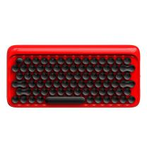 Vintage Keyboard Retro Keyboard Lofree DOT Bluetooth Wireless Mechanical Keyboard for Mac, Android, Windows with White LED Backlight and Rechargeable Battery (Red)