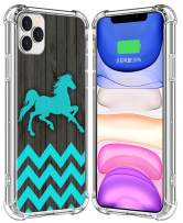IWONE Case for iPhone 11 Pro Max Horse Designer Rubber Durable Protective Skin Transparent Cover Shockproof Compatible for iPhone 11 Pro Max Horse Chevron Animal