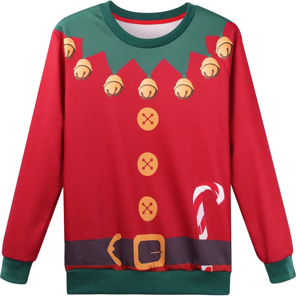 Hsctek Cute Ugly Christmas Fleece Sweatshirt for Kids