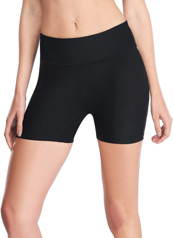 "HISKYWIN Women's 3""/4""/7"" Inseam UPF 50+ Active Fitness Volleyball Shorts Yoga Running Sports Shorts Pocket"