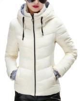 sandbank Women's Winter Parka Jacket Warm Hooded Cotton Quilted Puffer Down Coat