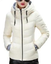 sandbank Women's Winter Parka Jacket Warm Hooded Cotton Quilted Puffer Down Coat