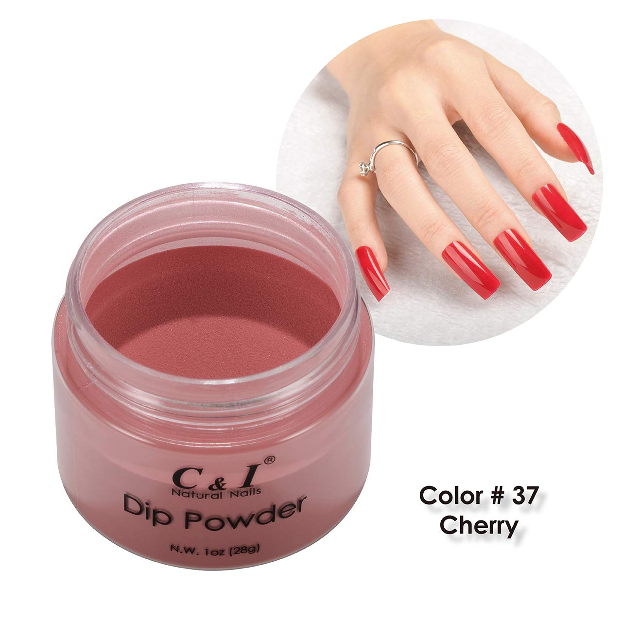 C & I Dipping Powder Color No.037 Cherry Red Color System