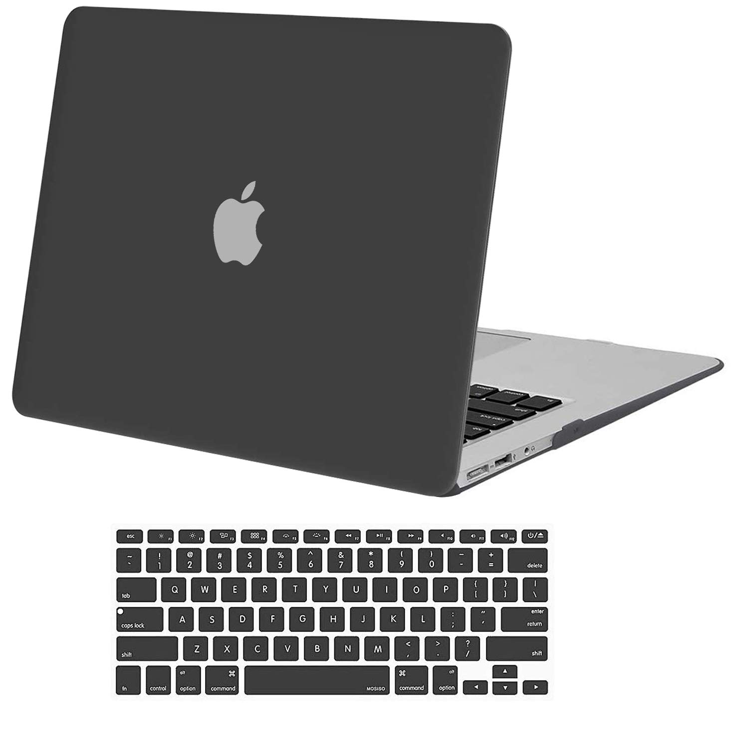MOSISO MacBook Air 13 inch Case (Models: A1369 & A1466, Older Version 2010-2017 Release), Plastic Hard Shell Case & Keyboard Cover Skin Only Compatible with MacBook Air 13 inch, Space Gray