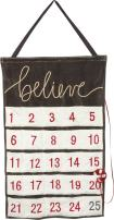 Primitives by Kathy Hanging Luxe Velvet Wall Countdown, Believe