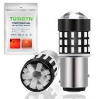 TUINCYN 1157 BAY15D LED Bulb Red Super Bright 2057 2357 7528 Brake Light Bulb 3014 54-EX Chipsets Parking Light Backup Lights Tail Reverse Light Turn Signals Light DC 12V-24V(2-Pack)