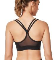 Yvette Women Sports Bra Strappy Removable Pads for Yoga Plus Size