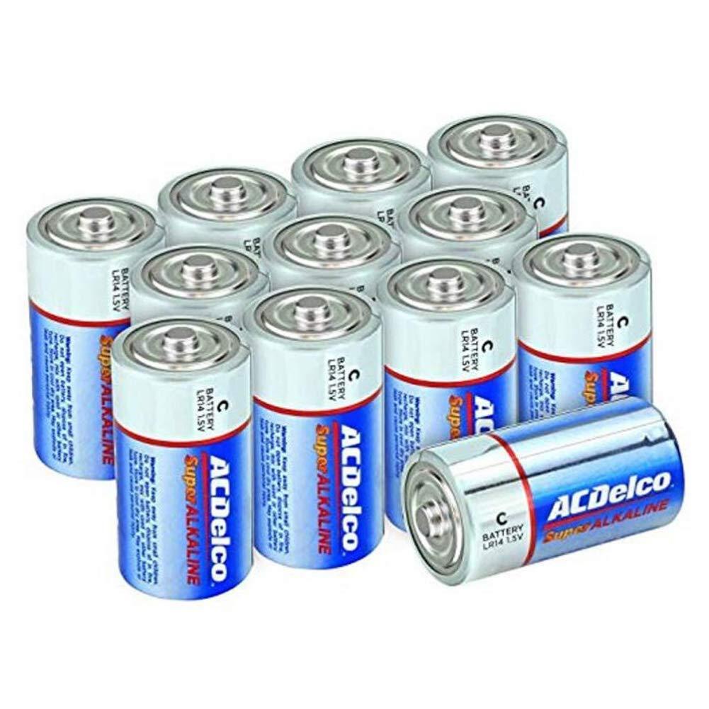 ACDelco C Batteries, Super Alkaline Battery, 12 Count Pack