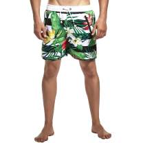 Ohrwurm Men's Swim Trunks Quick Dry Beachwear Bathing Suits Mesh Lining Boardshorts with Pockets