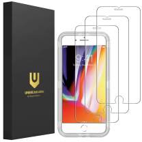 """UNBREAKcable 3 Pack iPhone 8 Plus Screen Protector, iPhone 7 Plus Screen Protector 5.5"""", Xi Series HD Clarity 9H Hardness Tempered Glass for iPhone 8 Plus/ 7 Plus with Free Installation Frame"""