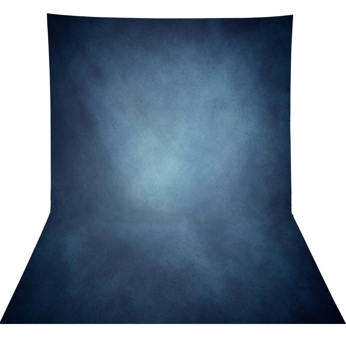Allenjoy 5x7ft Fabric Abstract Dark Blue Photography Backdrop Supplies Vintage Grunge Texture Old Master Background Photographer Professional Portrait Pictures Photoshoot Props Favors Studio Booth