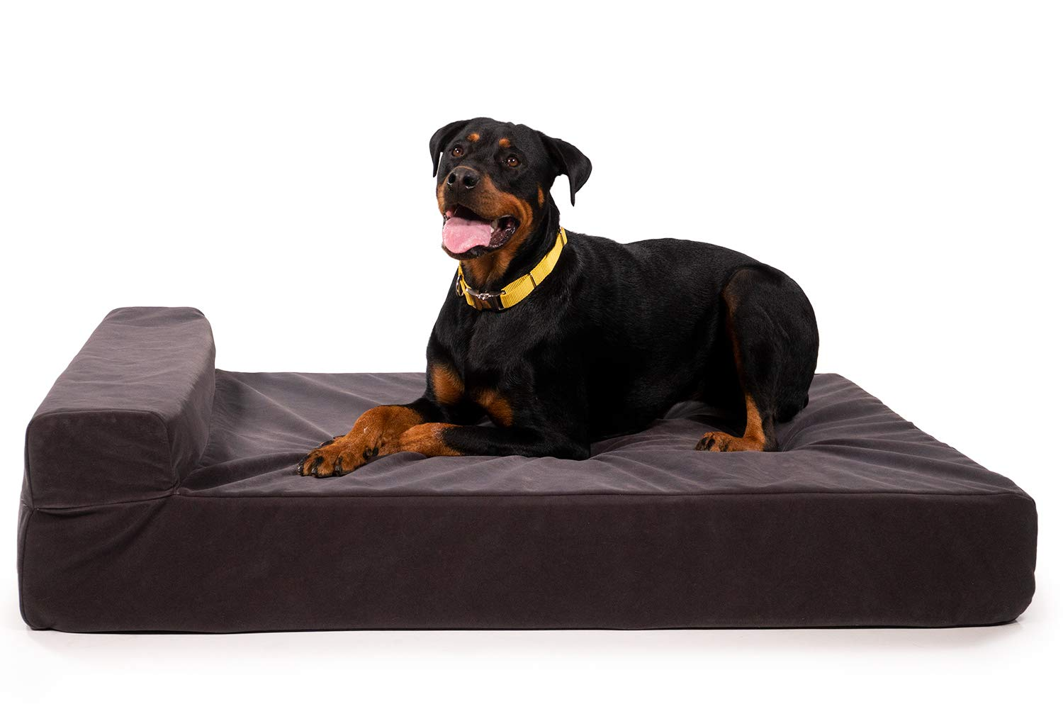 """K9 Ballistics Giant 7"""" Bolster Orthopedic Dog Beds, USA Made CertiPUR-US Foam, Double Cover, Rip-Stop Waterproof Liner Included, XL, XXL, X-Large, Giant"""