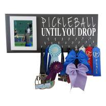 Pickleball Medals Holder Rack - Display Hanger for Ribbons and Awards - The Best Accessory/Equipment Gift for Pickleball Players - Pickleball Until You Drop