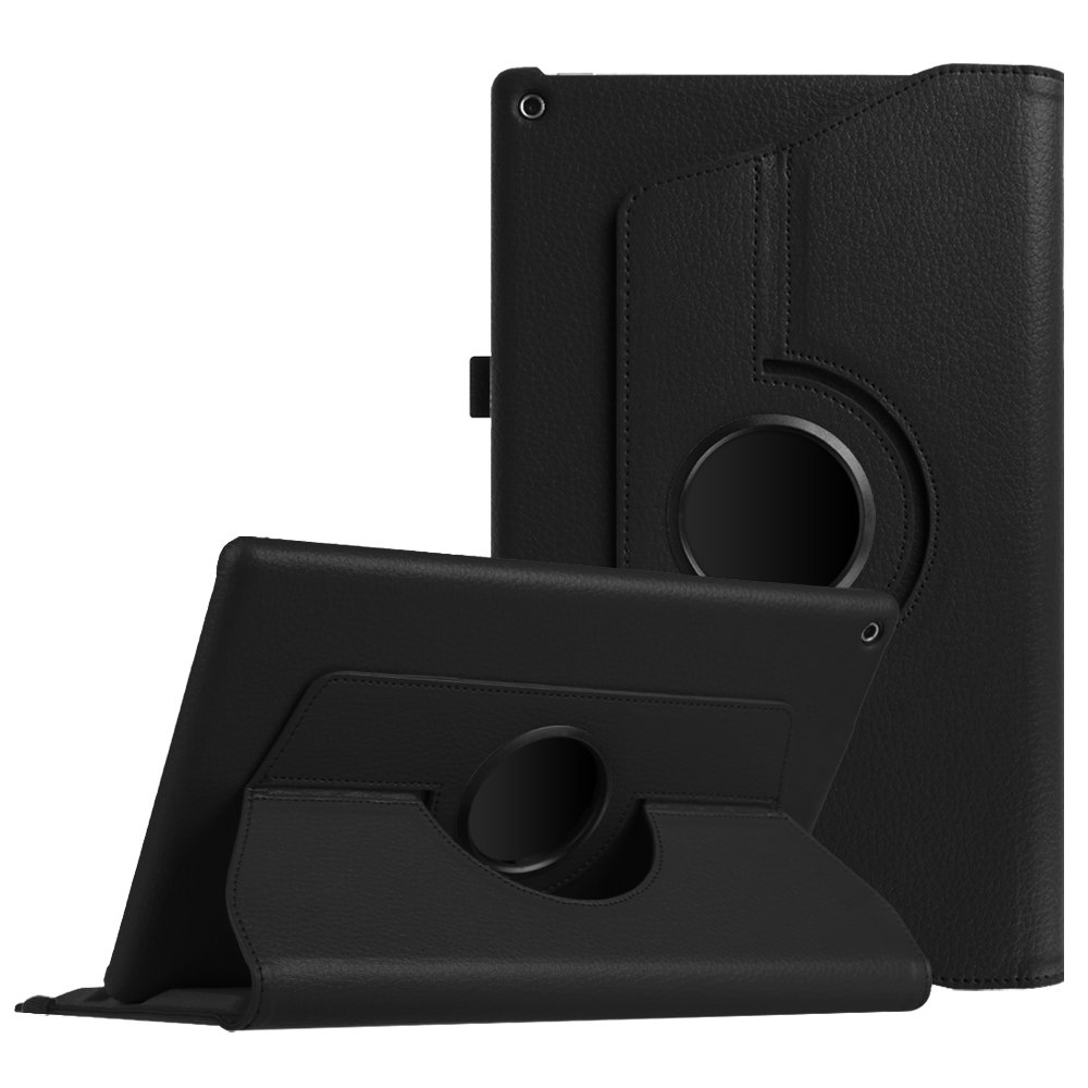 Fintie Case for All-New Amazon Fire HD 10 Tablet (Compatible with 7th and 9th Generations, 2017 and 2019 Releases) - 360 Degree Rotating Stand Protective Cover with Auto Sleep Wake, Black