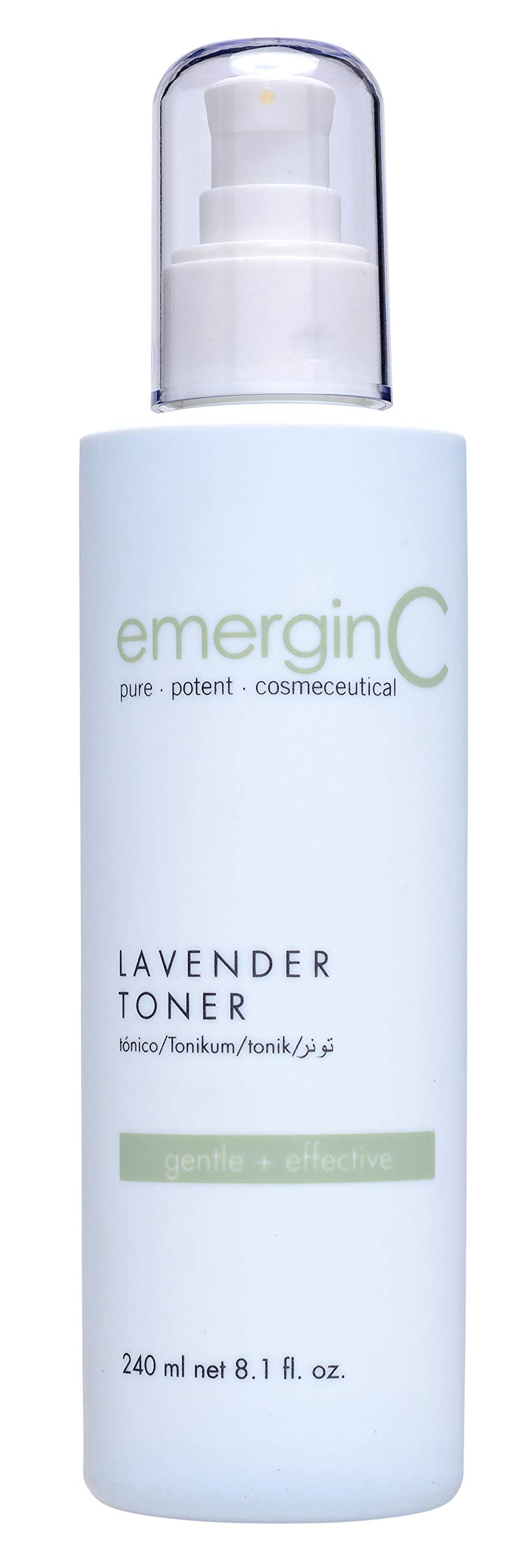 emerginC Soothing Lavender Toner - Gentle + Soothing Toner with Chamomile + Magnolia for Sensitive Skin + Minor Visible Redness (8.1 Ounces, 240 Milliliters)