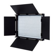 Fovitec - 1x Daylight 650 LED Panel w/Barndoor & Filters - [90+ CRI][Continuous Lighting][Entry Level Friendly][NP-F Compatible][5600K]