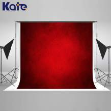 Kate 10x6.5ft Red Abstract Backdrop Red Portrait Textures Photo Background Old Master Red Backdrops