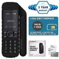 2019 Unlocked IsatPhone 2.1 Satellite Phone with 250 Units Prepaid SIM Card Valid 6 Months - Voice, SMS, GPS Tracking, Emergency SOS Global Coverage - Water Resistant
