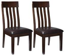 Signature Design by Ashley - Haddigan Dining Room Chair - Upholstered Chairs - Set of 2 - Dark Brown
