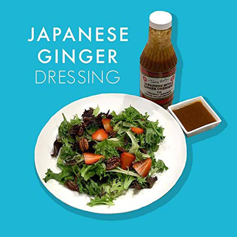 Yum Yum Japanese Steakhouse Food Sauce 16 Oz   Tasty for Ginger Salad Dressing Or Marinade - Bottle by Terry Ho's Best Food Grille Spicy Organic Garlic Flavor Sesame Asian Sauces (Pack 4)