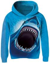 Cutemile Boys Girls Cool Hoodies Novelty 3D Graphic Hoody Long Sleeve Sweatshirts Fleece Pullover with Pocket 5-13T