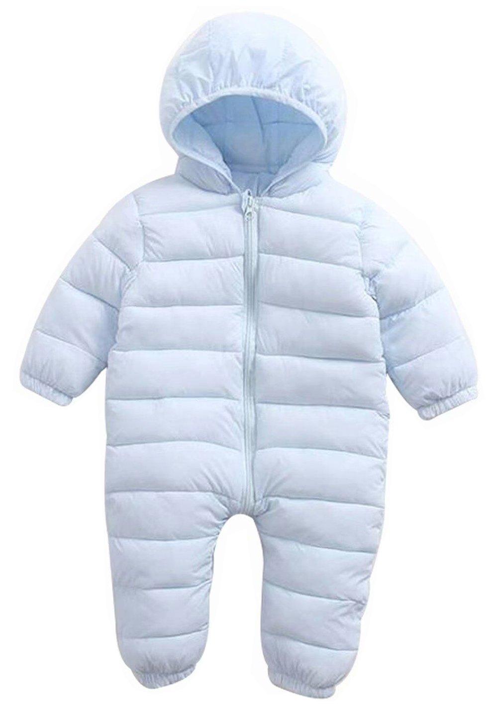 EGELEXY Baby Unisex Winter Snowsuit Down Jacket Kids Snow Wear Hooded Puffer Jumpsuit