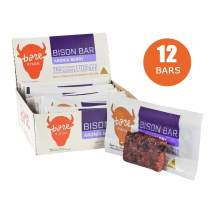Bare Bison Snack Meat Protein Bars with Aronia Berries- Premium Protein, All Natural, Gluten-Free, Paleo Friendly- 1.5 oz per bar (12 Pack)