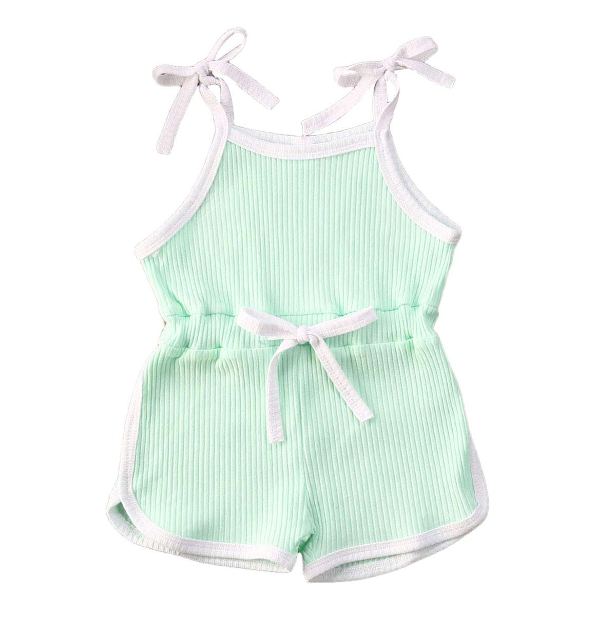 Toddler Baby Girls Summer Knit Outfits Set Ruffle Tops Shirt + Shorts Pants 2Pcs Clothes