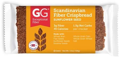 GG Scandinavian Fiber Crispbread Sunflower Seed Thins, 15 Count