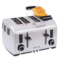4 slice toaster,Extra Wide Slot Stainless Steel Toaster,Retro Small Toaster with Bagel,Cancel,Defrost,Reheat Function,toaster 4 slice for Bread Toaster with 7 Shade Control,Bagel Toaster