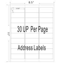 Firstzi 30-UP Amazon FBA Shipping Address Labels for Laser and Ink Jet Printer, Handwritten Name Tag,1x2-5/8 Inch, 30 Labels Per Page, 100 Sheets (3000 Mailing Stickers)