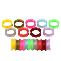 TOPBRIGHT 18PCS Ultra Thin Soft Pearl Silicone Double Flare Ear Gauges Wearables Earring Plugs Earskin