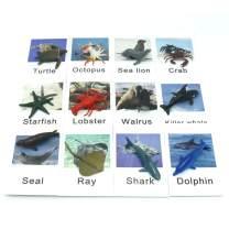 Montessori Marine Animal Match Cards and Figurines TZX011