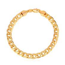 "U7 Men Women Cuban Link Bracelet Stainlss Steel 18K Gold Plated Diamond Cut 3mm 5mm 6mm 7mm 9mm 12mm Wide Miami Curb Chain Wrist Bracelet, Length 6.5"" 7.5"" 8.26"", with Gift Box"