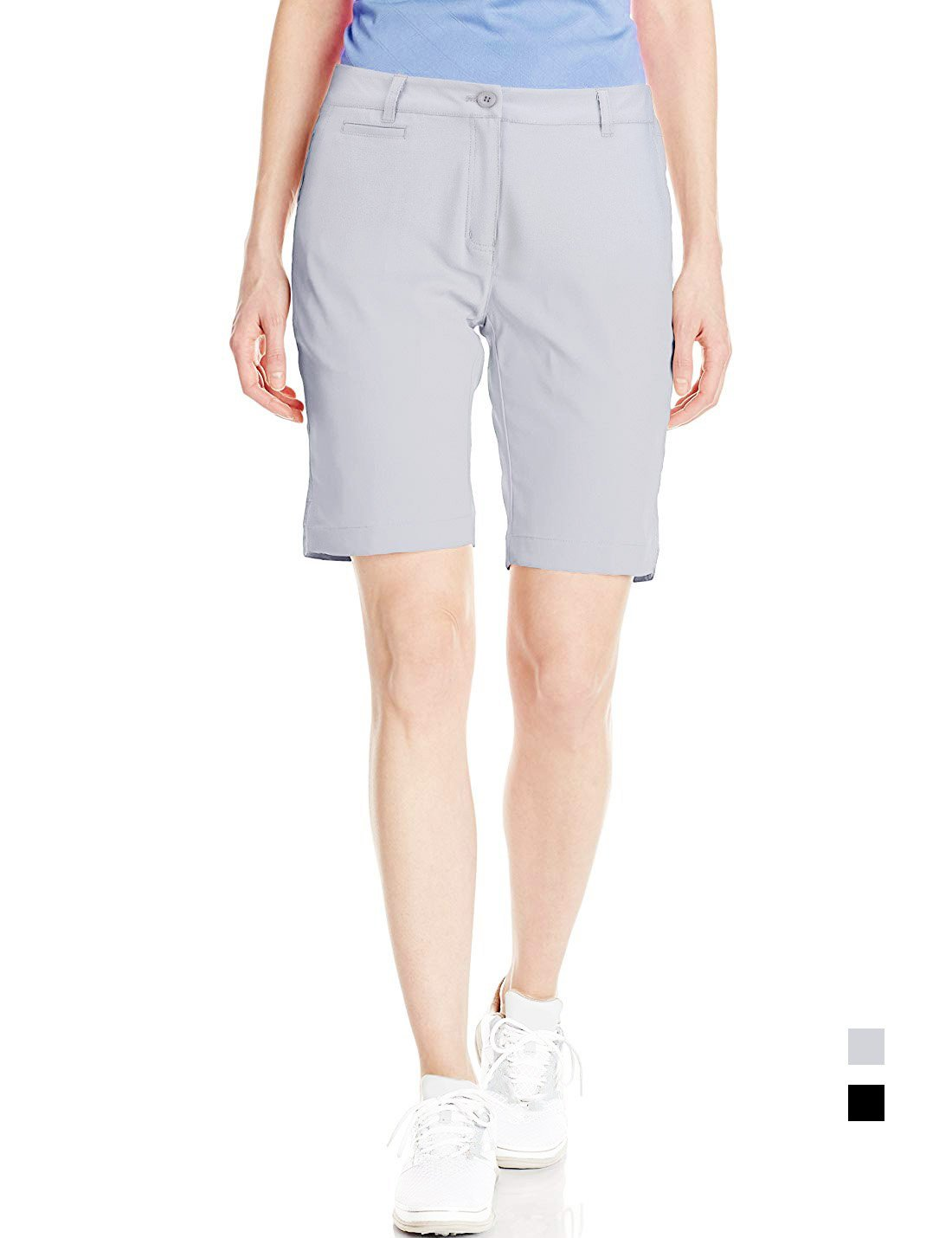 Golf Shorts Women Bermuda Stretch Chino Knee Length Twill Ladies Relaxed Fit