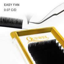 Volume Eyelash Extensions Thickness 0.07 C Curl 10mm Premade Fans 2D 3D 4D 5D 6D 20D Easy Fan Lash Self Fanning|Optinal Thickness 0.05/0.07/0.10/0.12 C/D Curl Single 8-18mm Mix 8-15mm|