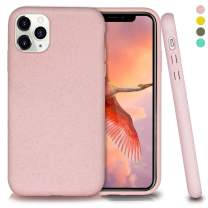 Biodegradable iPhone 11 Pro Max Phone Case,Eco-Friendly,Durable and Slim,6.5 Inches (Baby Pink)