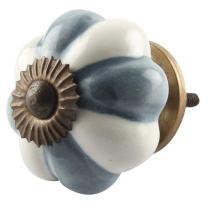 Indianshelf Handmade 4 Pieces Grey Ceramic Melon Artistic Knobs and Pulls for Dresser Cabinet Wardrobe Online